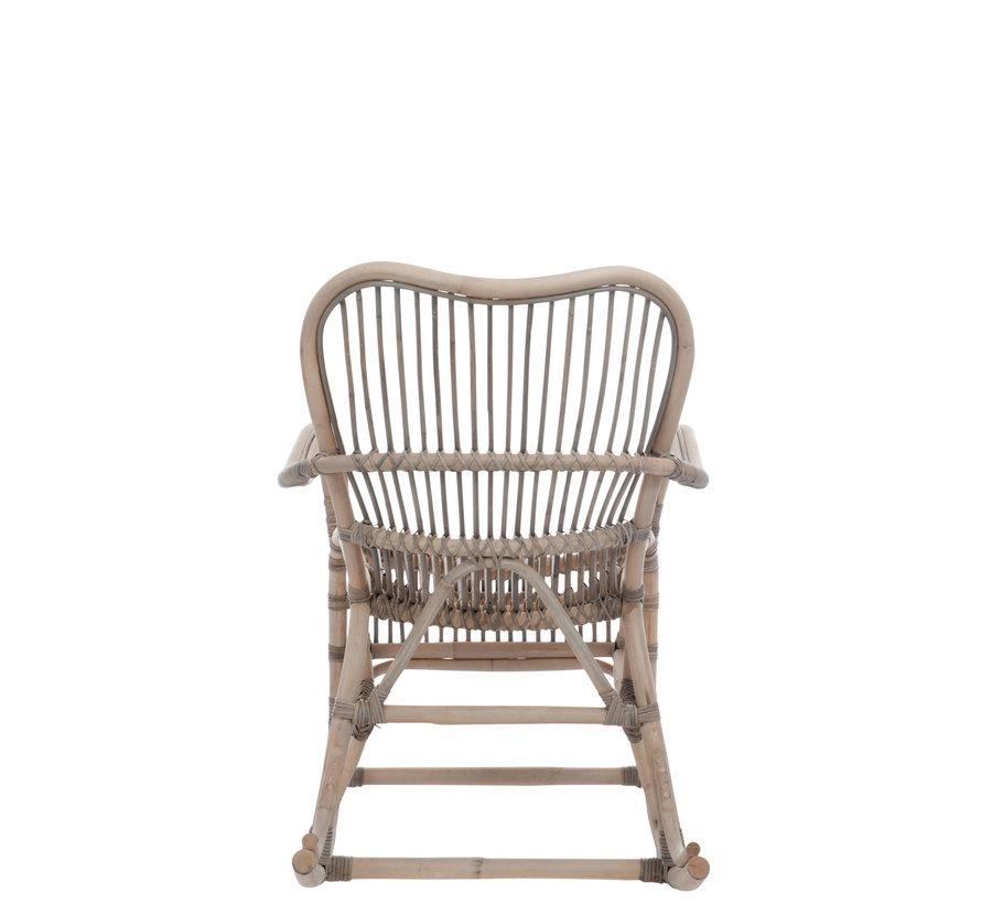 Rocking Chair Bamboo Gray