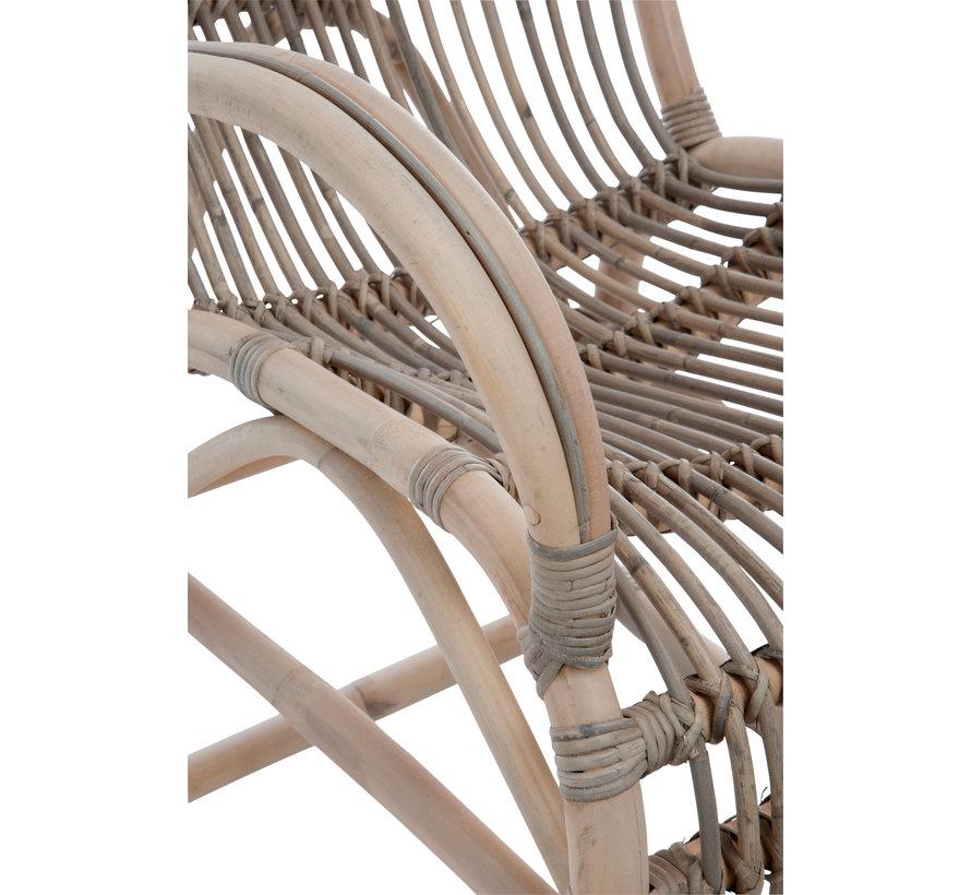 Schommelstoel Bamboo Grijs