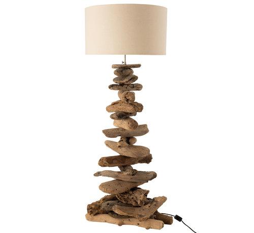 J-Line Floor Lamp Driftwood Medium