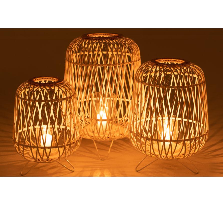 Lantern Candle On Foot Large