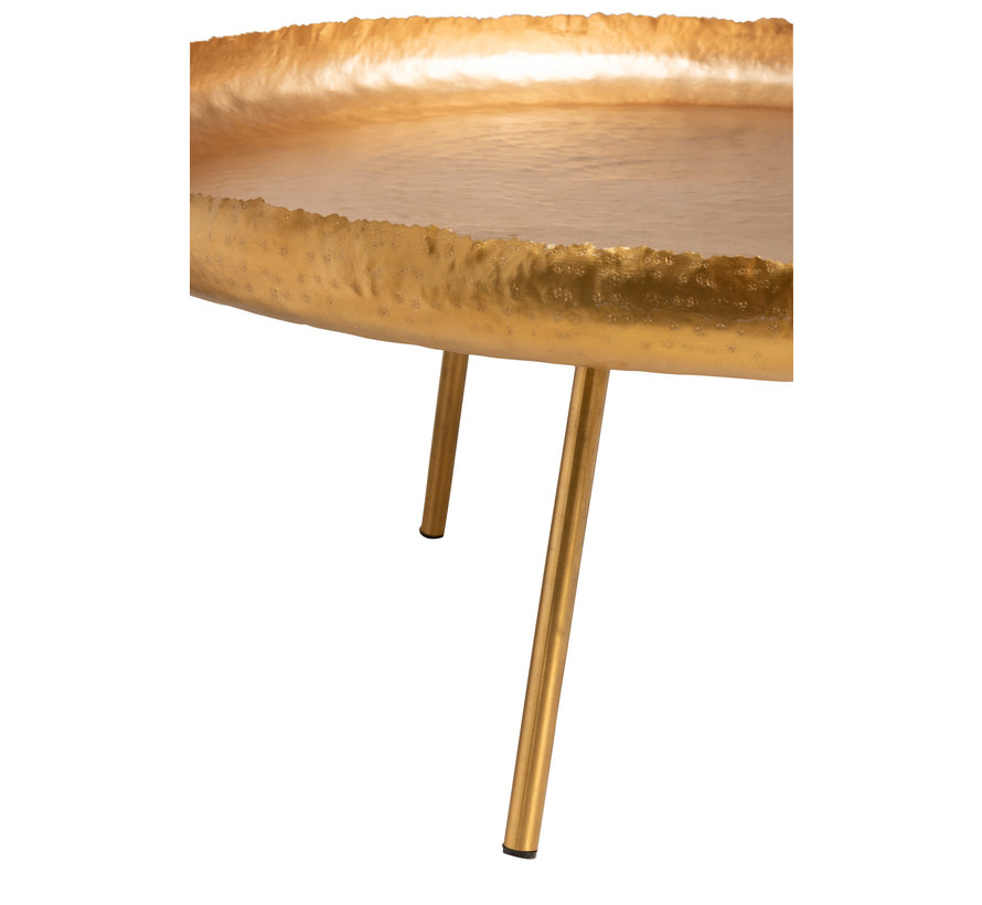 Side table Round Ironwork Gold