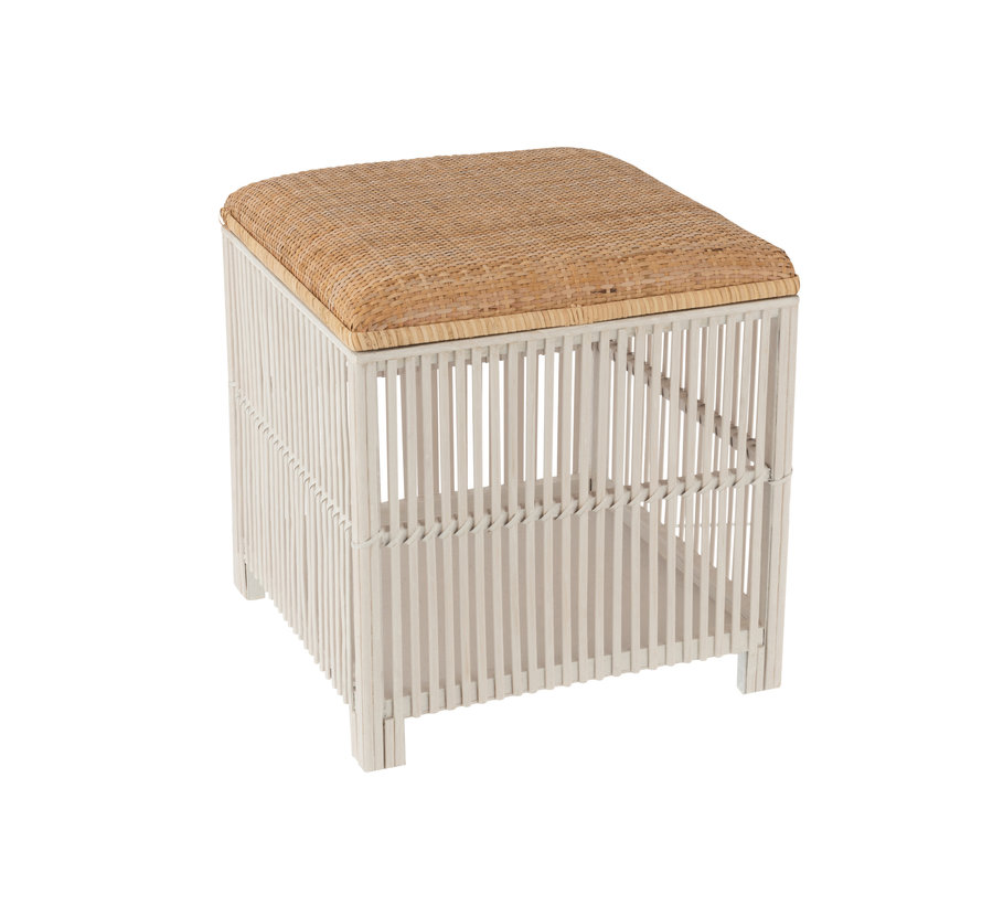 Pouf Square Bamboo Natural