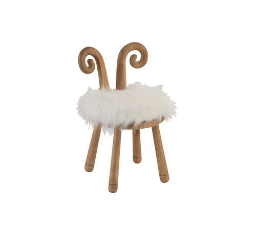 J-Line Chair Sheep Horns Wood Natural