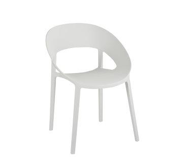 J-Line Chair Open Back Modern White