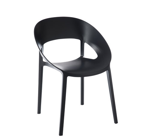 J-Line Chair Open Back Modern Black
