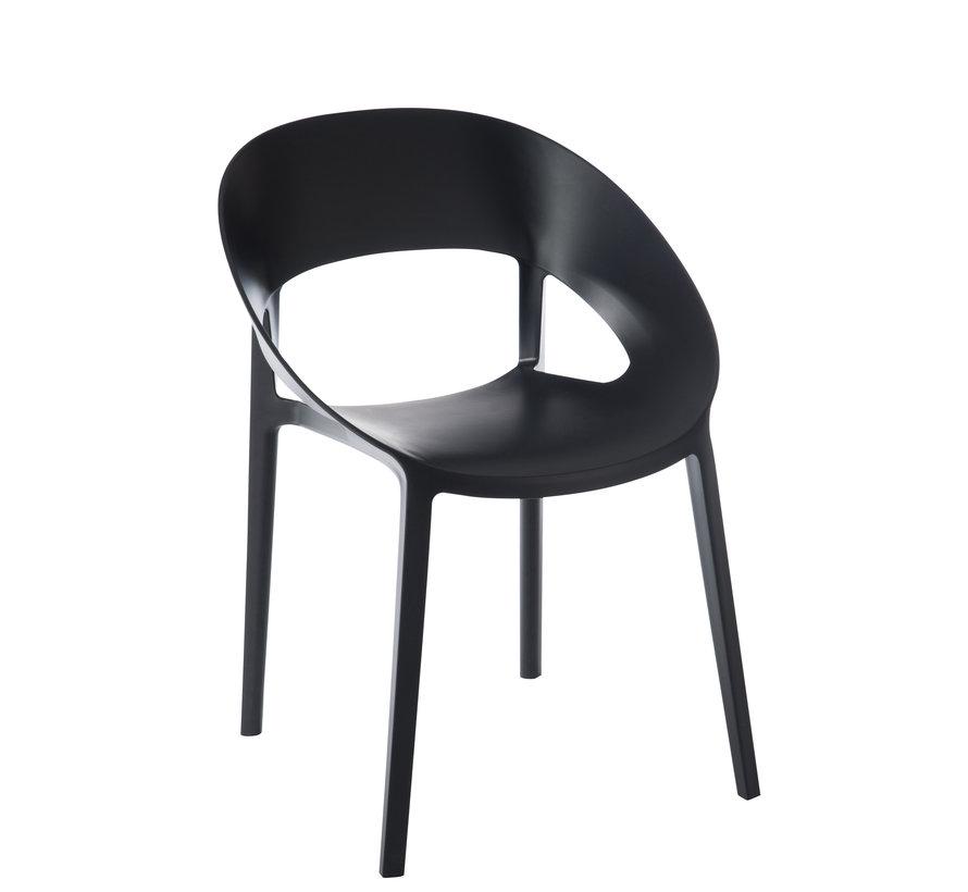 Chair Open Back Modern Black
