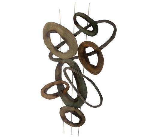 J-Line Muurdecoratie Ovalen Cirkels Small