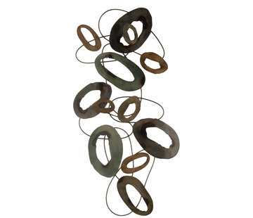 J-Line Muurdecoratie Ovalen Cirkels Large