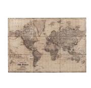 J-Line Muurdecoratie Wereldkaart Metaal