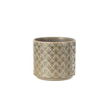 J -Line Flowerpot Diamonds Dark Gray Medium