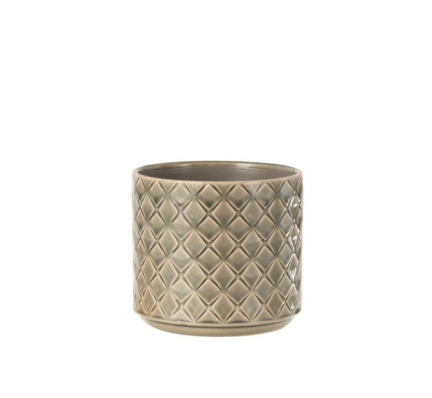Flowerpot Diamonds Dark Gray Medium