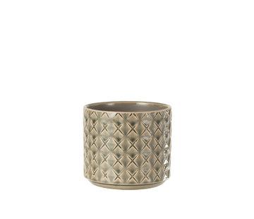 J -Line Flowerpot Diamonds Dark Gray Small