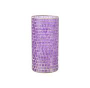 J -Line Vase Mosaic Glass Purple