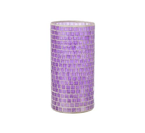 J-Line Vaas Mozaïek Glas Paars