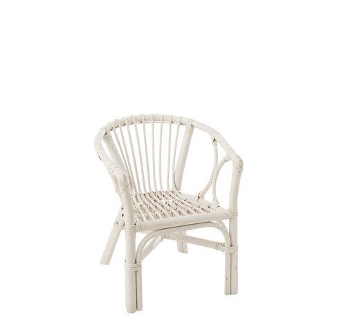 J-Line Kinderstoel Landelijk Rotan Wit