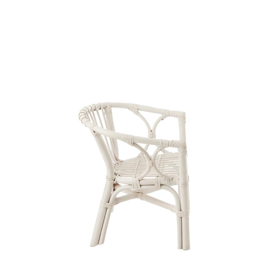 Kinderstoel Landelijk Rotan Wit