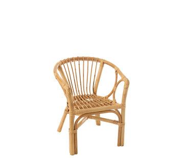 J-Line Kinderstoel Landelijk Rotan Naturel