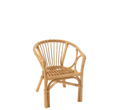 J-Line Children's chair Rural Rattan Natural