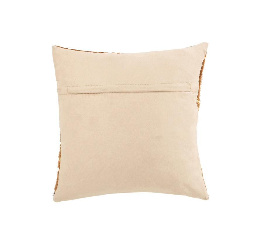 Cushion Square Semi Circles Leather