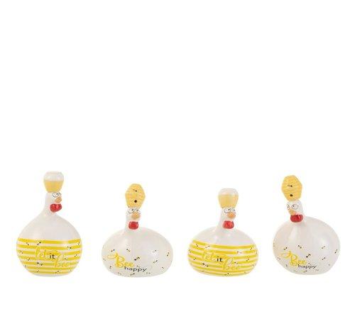 J-Line Decoration Chickens Honeybees Small
