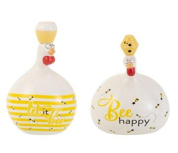 J-Line Decoration Chickens Honeybees Large