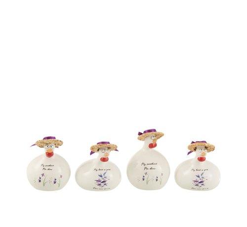 J-Line Decoratie Kippen Liefde Small