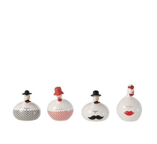 J-Line Decoration Chickens Hello Sweetie Small