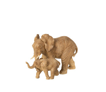 J-Line Decoration Elephant Mother With Child