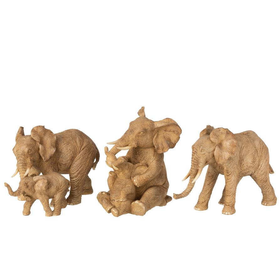 Decoration Elephant Mother Sitting With Child