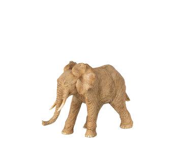 J-Line Decoration Elephant Standing Brown