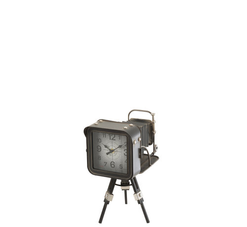 J-Line Longcase Clock Old Camera Black