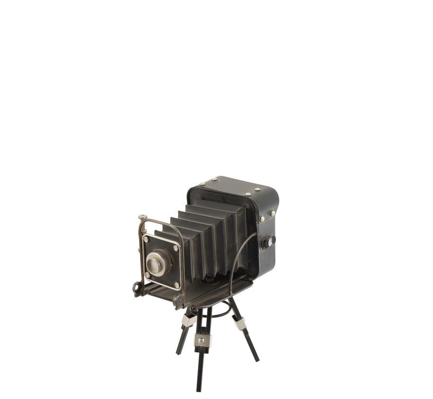 Staande Klok Oude Camera Zwart