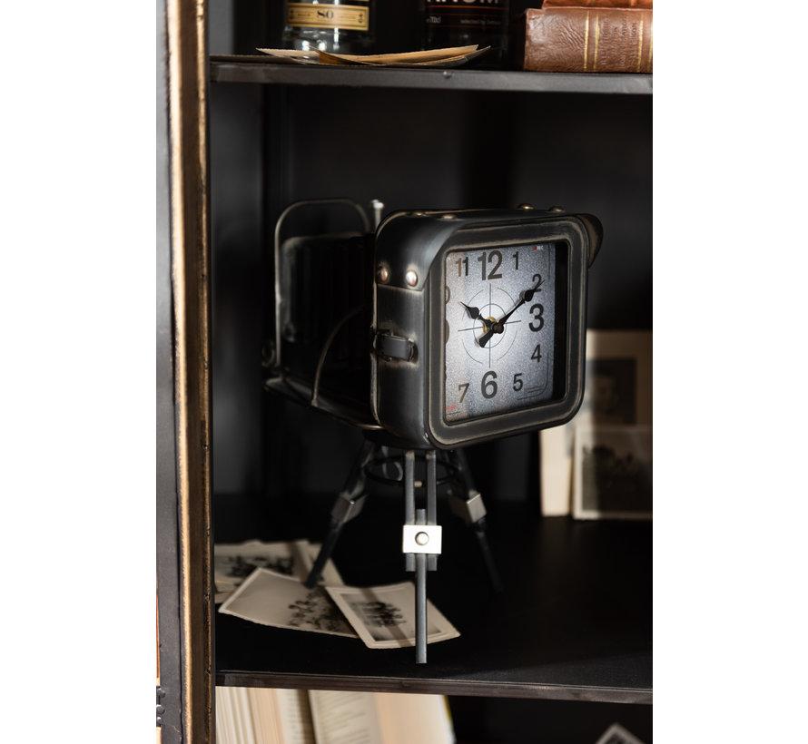 Longcase Clock Old Camera Black