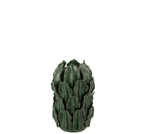 J-Line Vase Green Leaves Extra Small