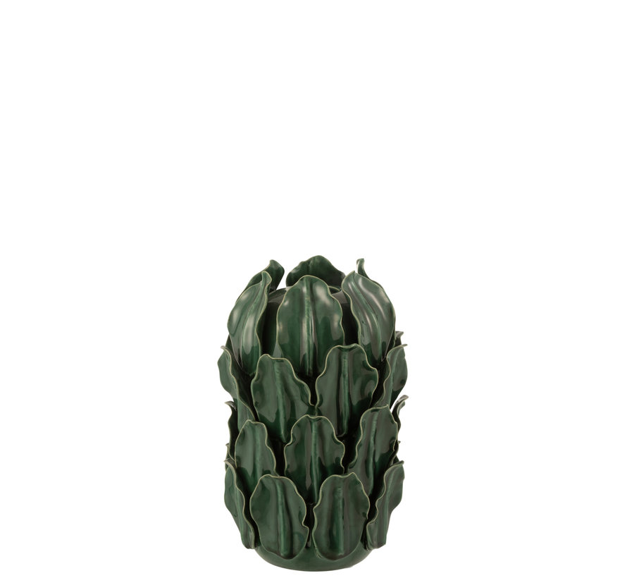 Vase Green Leaves Extra Small