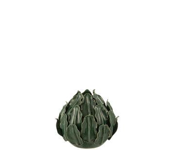 J-Line Vase Bulb Green Leaves Small