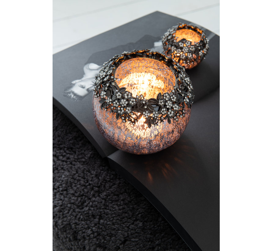 Tealight holder Jewel Smokey Large