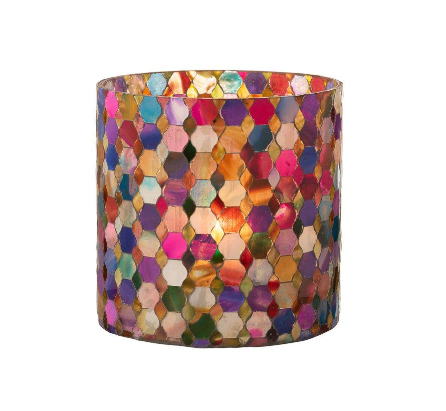 Tealight Holder Summer Mix Colors Large