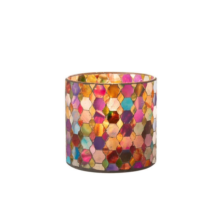 Tealight Holder Summer Mix Colors Medium