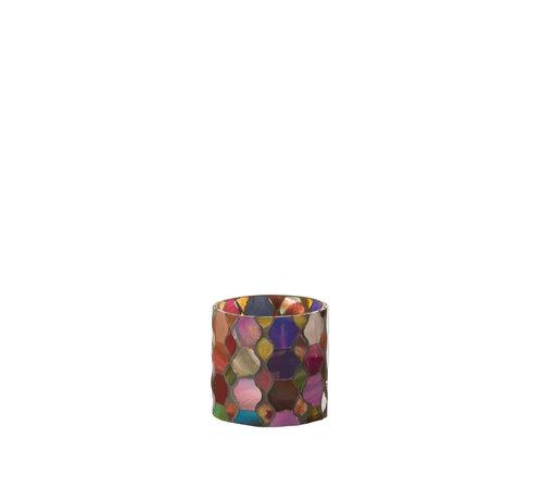 J-Line Tealight Holder Summer Mix Colors Small