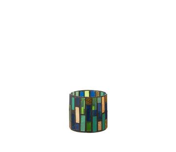 J-Line Theelichthouder Glas Groen Small