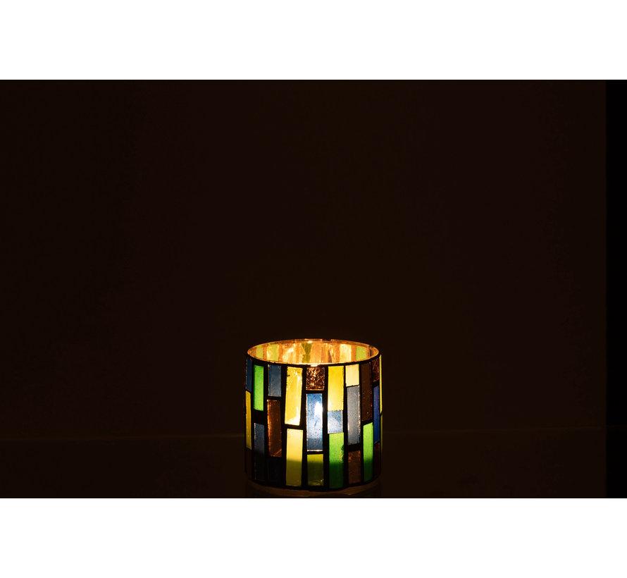 Tealight holder Glass Green Small