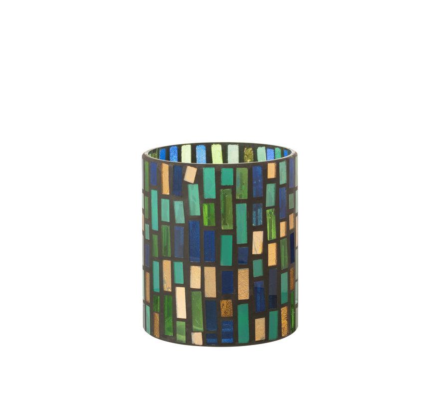 Tealight holder Glass Green Medium