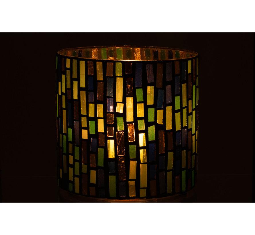 Tealight Holder Glass Green Large