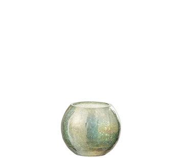 J-Line Tealight holder Craquelé Green Small