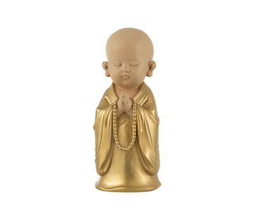 J-Line Decoration Monk Pearls Gold Large