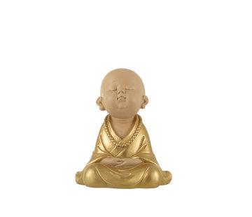 J-Line Decoration Monk Sitting Gold Large
