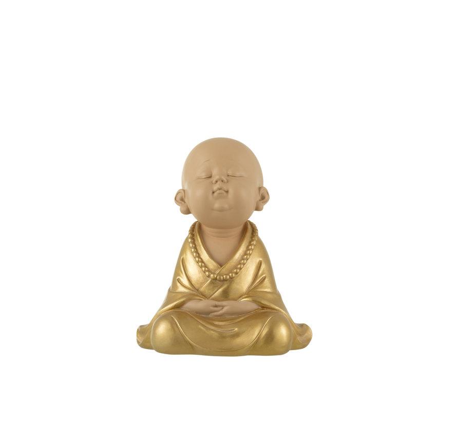 Decoration Monk Sitting Gold Large