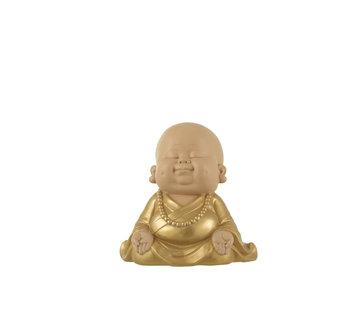 J-Line Decoration Monk Sitting Gold Small