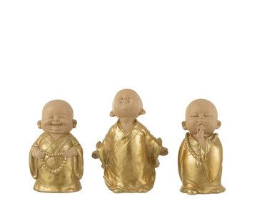 J-Line Decoration Monks Gold Medium